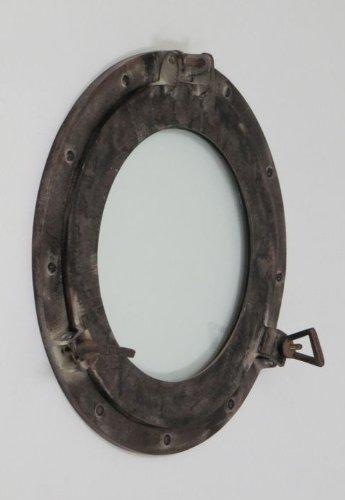 Porthole Glass Aluminum W/Antique Finish - 15