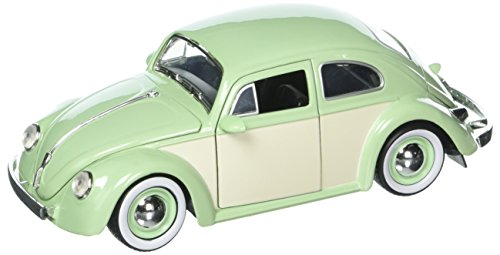 Kustom Metal - JADA 1:24 W/B Metals Bigtime Kustoms 1959 Volkswagen Beetle 2-Tone with Baby Moon Wheels Green Die Cast Car