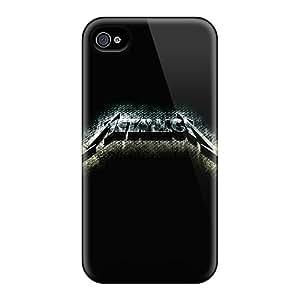 Unique Design Iphone 4/4s Durable Cases Covers Metallica