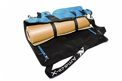 Yoga Bag Yoga Mat Bag Fitness Bag Multifunctional Gym Bag with Open Ends 5 Pockets Bottle Holder in 2 colors from AmazeX