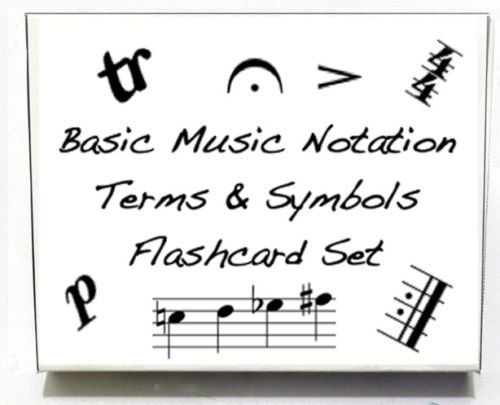 Basic Music Symbols and Terms Flashcards - Really fun design! (Violin Suzuki Flashcards)