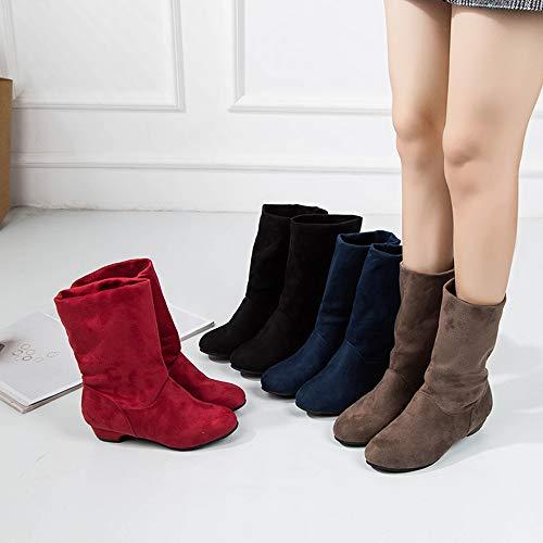 a0349301913fe Zapatos Grande Clásicas Cuña Militares Para Tacón Botas Nieve Invierno Dama  De Calzado Caqui Medio 2018 Ancho Mujer ...