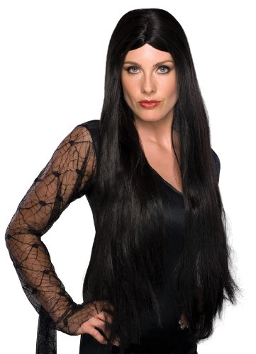 Size 28 Witch Costume (Rubie's Costume 28-Inch Witch Wig, Black, One Size)