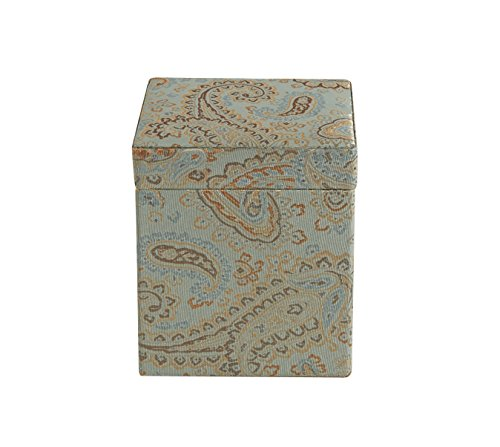 "Jennifer Taylor Home, Fabric Covered Storage/Gift Box, Large, 6"" L x 6"" W x 6 3/4"" H, Seamist Green, Lined, Decorative"