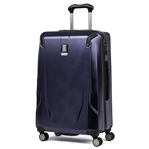 Travelpro Luggage Crew 11 25' Polycarbonate Hardside Spinner Suitcase, Navy