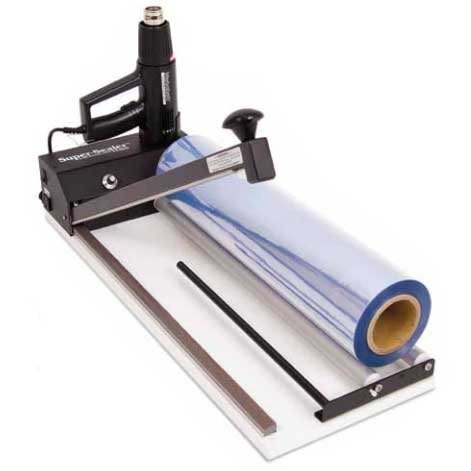 Intelli-Zone SHKEIZ24DLX Intelli-Pack Deluxe I-Bar Shrink Wrap Machine; Adjustable timer and LED light indicate when seal is complete; Machine available in several sealing lengths: 13, 18, 24, 32, 40''; Heat gun has two settings (High and Low) by Intelli-Pack