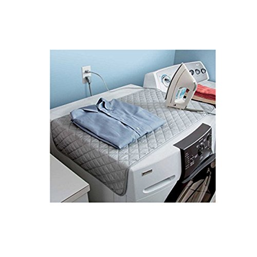 MareLight Magnetic Ironing Mat Laundry Pad 19 x 33.5 Inch - Quilted Ironing Blanket Grey Tabletop Ironing Pad
