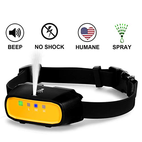 WWVVPET Spray Dog Bark Collar,Citronella Dog Training Collar (Not Include Citronella Spray),Rechargeable Humane No Electric Shock Harmless Stop Barking Collar (Orange (can not be Remote Controlled)) (Dog Citronella Collar)