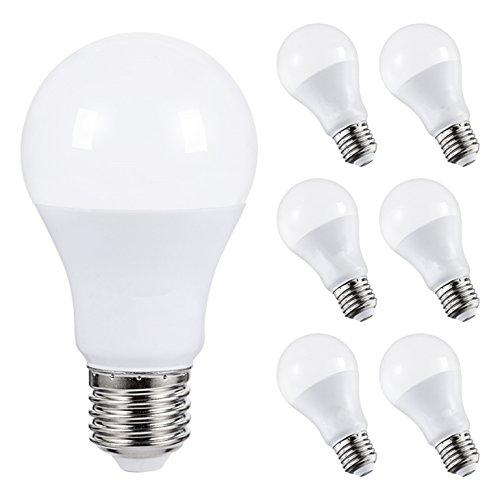 Bulb 60w 1 Light Lamp (AED Lighting LED Light Bulbs, 60W Equivalent LED Lamps, A19 LED 6W, 4000K Neutral White LED Light, 240 Degree Beam Angle, Medium Base E26, 480lm Energy Lighting for Home, Not-dimmable, Pack of 6)