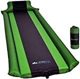 IFORREST Sleeping Pad with Armrest and Pillow - Ultra Comfortable Self-Inflating Camping Pad - Ideal for Travel, Hiking, Backpacking, Cot and Hammock! (Green)
