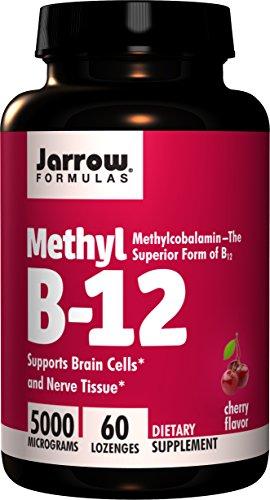 Jarrow Formulas Methylcobalamin (Methyl B12), Supports Brain Cells, 5000 mcg, 60 Lozenges (Jarrow Formulas Adrenal Optimizer)