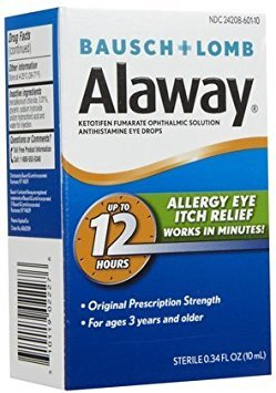 Bausch & Lomb Alaway Itch Relief Eye Drops-0.34 oz, 2 pk