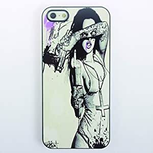 MOFY- Hardcore Chica del metal del dise–o del estuche r'gido para el iPhone 4/4S