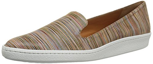 Andre Assous Women's Poppy Fashion Sneaker, Tan Multi Stripe, 7 M - Stripe Multi Tan