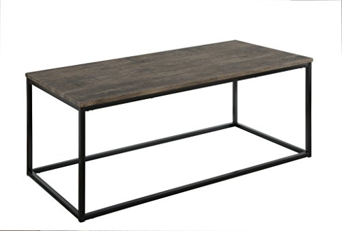 Cheap Abington Lane Contemporary Rectangular Coffee Table – Modern Cocktail Table, Sofa Table for Living Room and Office (Distressed Pecan)