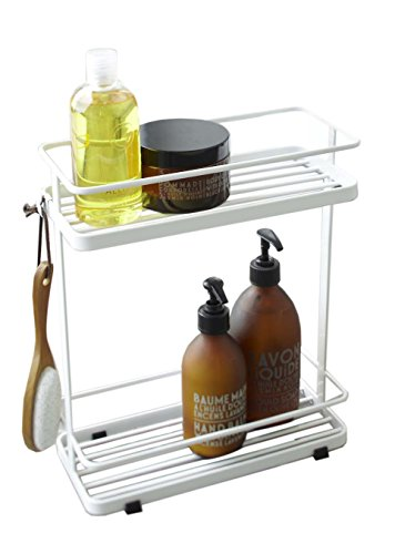 Red Co. Stainless Steel Bathroom Caddy Stand in White Finish