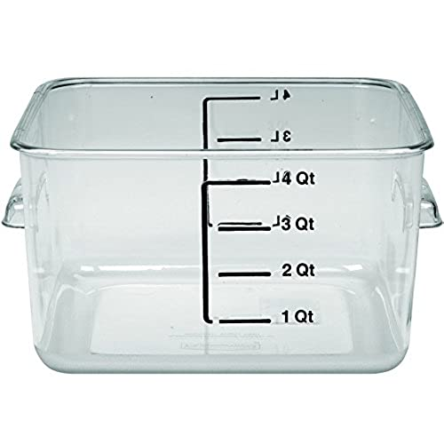 Rubbermaid Commercial FG630400CLR Polycarbonate 1 Gallon Space Saving Storage Container Clear  sc 1 st  Amazon.com & Food Service Containers: Amazon.com