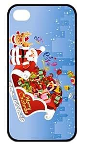 Hard Case Back Cover - Joyful Merry Christmas iPhone 4,iPhone 4s Case by lolosakes by lolosakes