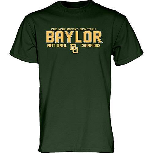 - Elite Fan Shop Baylor Bears Womens National Basketball Championship Tshirt 2019 Block Green - M