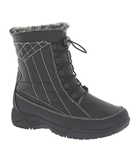 totes Eve Womens Snow Boots,Black Wide Width,6W