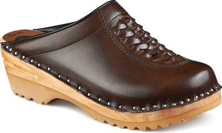 Troentorp Dames Båstad Wright Leather Clog Cola