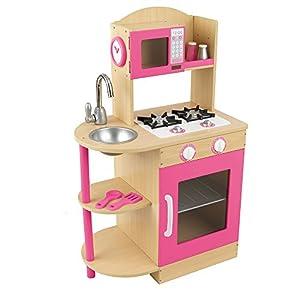 Kidkraft pink wooden kitchen toys games - Cuisine bois enfant kidkraft ...