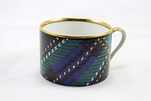 Fitz & Floyd Tartan Plaid Blue Green Flat Cup