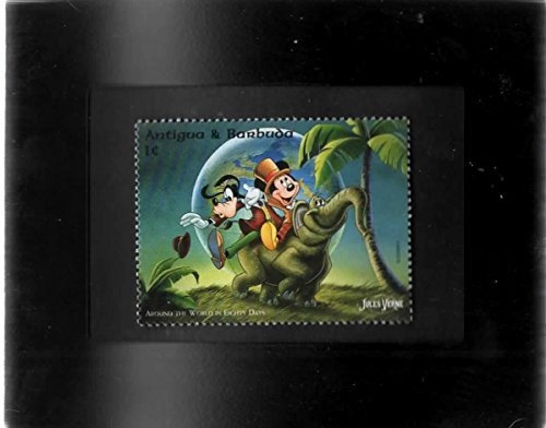 Tchotchke Framed Stamp Art - Disney - Mickey & Goofy Around The World In 80 Days (Mickey Around The World In 80 Days)