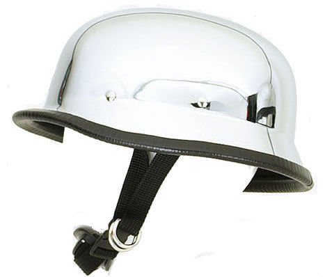 Chrome Novelty Motorcycle Helmet - 9