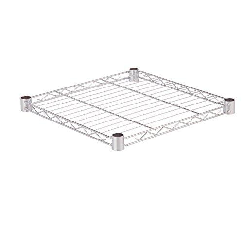 Honey-Can-Do SHF350C1818 Steel Wire Shelf for Urban Shelving Units, 350lbs Capacity, Chrome, 18Lx18W (Chrome Dish Wheel)