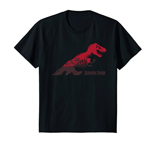 Price comparison product image Kids Jurassic Park Red & Brown Dinosaur T-Shirt