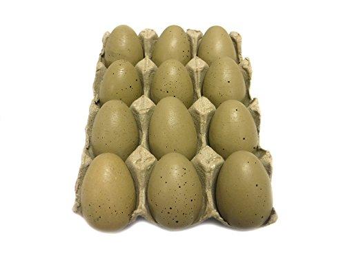 Dozen Wooden Faux Chicken Eggs (Brown (Brown Chicken)