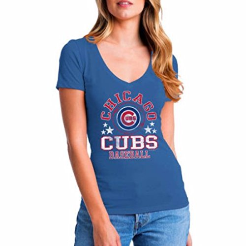 MLB Chicago Cubs Women's Short Sleeve Team Color Graphic Tee Size - Small Chicago Cubs Shop