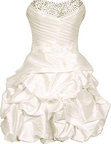 KAY&LAYLA Women's Beaded Taffeta Mini Bubble Party Dress Ivory Size 24W