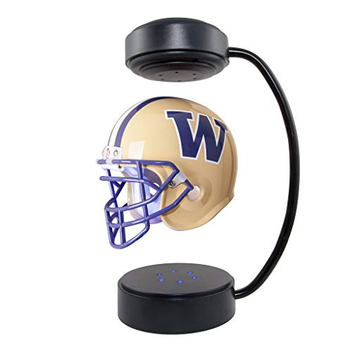 Washington Huskies NCAA Hover Helmet - Collectible Levitating Football Helmet with Electromagnetic Stand