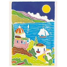 Amalfi Handmade Decorative Village Tile From Italy