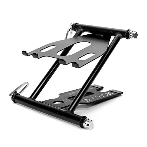 CRANE Stand Pro Centerstage Universal DJ Stand for Laptops, Tablets and Controllers with Faux-leather Carry Bag, Black
