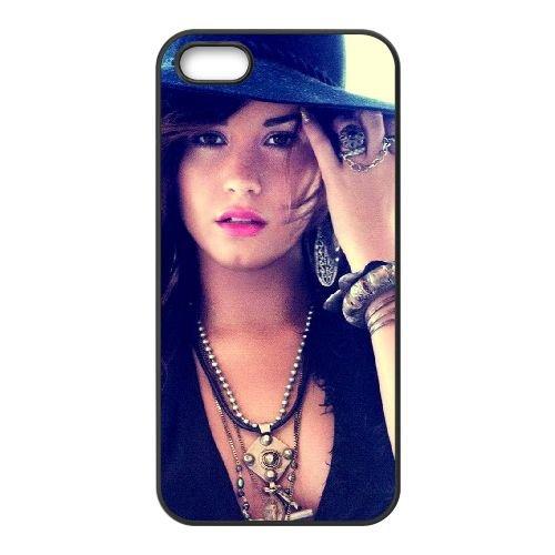 Demi Lovato 001 coque iPhone 5 5S cellulaire cas coque de téléphone cas téléphone cellulaire noir couvercle EOKXLLNCD23134