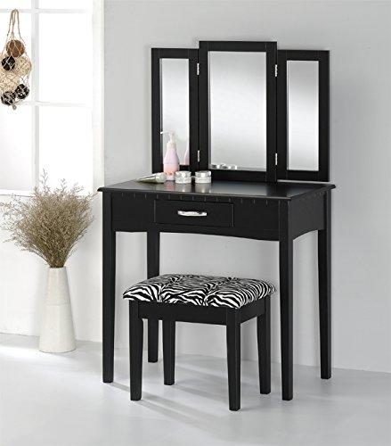 Black Bedroom Vanity - 8