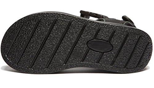 Womens Gladiator Simple Heel Wedges Sandals Platform Black Casual Leather Mid rBqwPrx