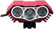 Bicycle 3000lm 3 x T6 LED Headlamp Outdoor Caving Riding Lamp Bike Front Headlight Cycling Light Bicycle 3 x T