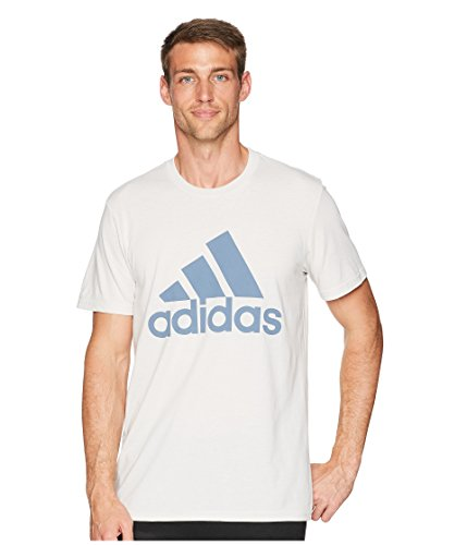 adidas Men's Badge of Sport Classic Tee Chalk Pearl/Raw Steel X-Large ()