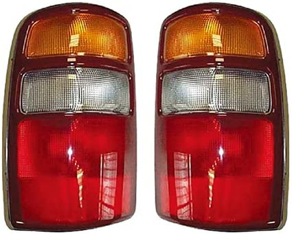 Set of 2 Tail Lights Lamps New Right-and-Left Chevy Blazer Suburban LH /& RH Pair
