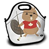Best ICOLOR Kid Lunches - Beaver with Ice Hockey Stick and Puck Lunch Review