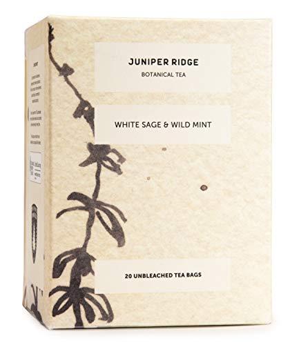 Juniper Ridge Tea Bag | White Sage & Wild Mint Teas | Caffeine Free | Wild Harvested | 20 Unbleached Tea Bags