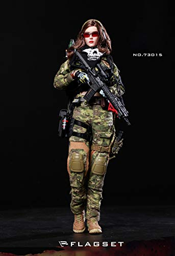 Military 12 Inch Figures (FLAGSET 1/6 Scale Modern Army Military Female Soldier Action Figures, 12in Flexible PVC Model Set (FS-73015 - War Angel))