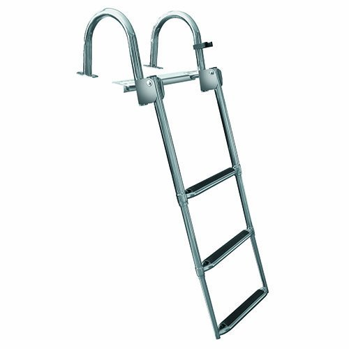 Jif Marine 3 Step Premium Rear Entry Ladder, Stainless Pontoon & House Boat Ladders (Entry Ladder)