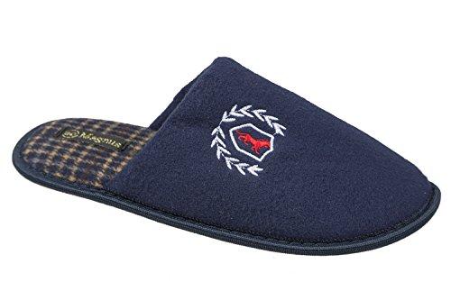 gibra - Zapatillas de estar por casa de tela para mujer, color azul, talla 41 EU
