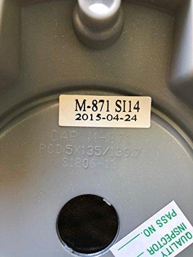 Black Rhino Wheels CAP M-871 SI14 Flat Silver Center Cap CCBR5140SFLAT