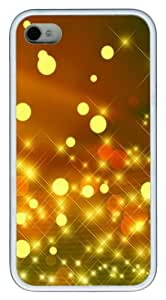iPhone 4S Cases Sparkling Halos TPU Soft Back Case Cover for iPhone 4S and iPhone 4 - White